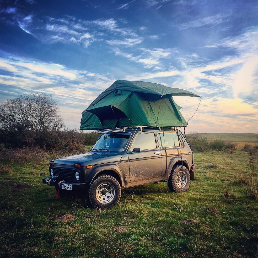 """Philipp on Instagram: """"#Lada #Niva #offroad #rooftoptent #camping"""