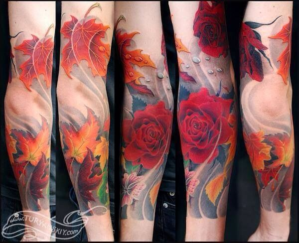 Fall Themed Tattoo Sleeve Autumn Tattoo Sleeve Tattoos Tattoos With Meaning