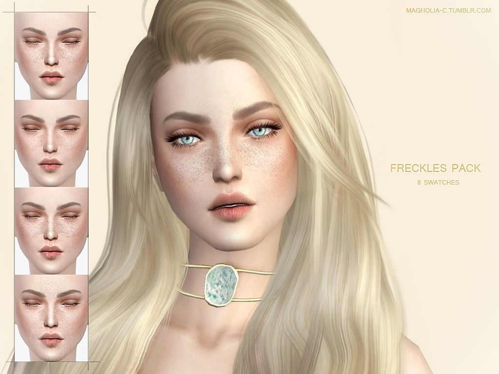 Freckles Pack 8 swatches – 2 different colors -… – MAGNOLIA | Sims 4 Updates -♦- Sims 4 Finds & Sims 4 Must Haves -♦- Free Sims 4 Downloads