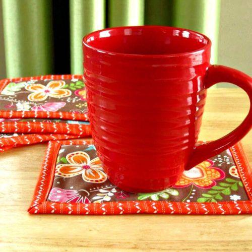 Easy Binding Mug Rug (With Images)
