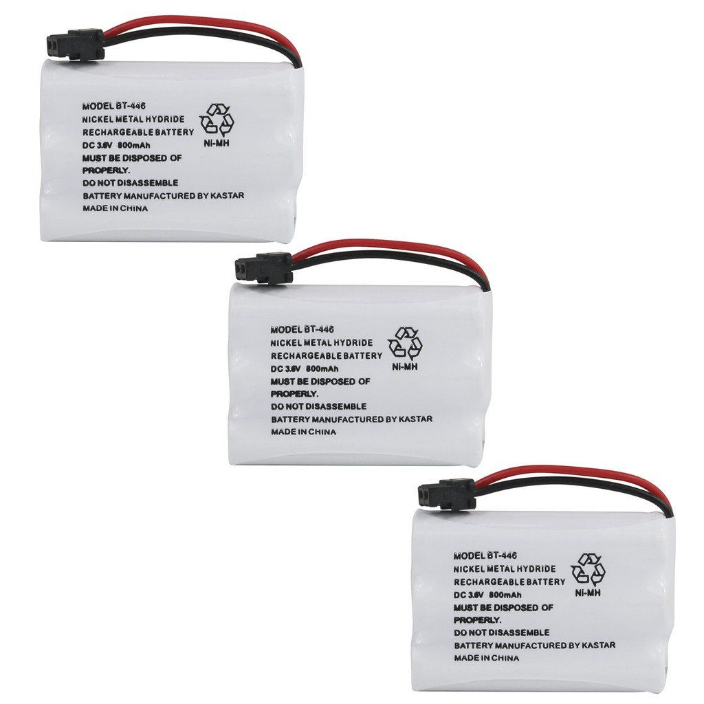 Kastar 3 Pack Bt446 Cordless Phone Battery Genuine Uniden Quality For Uniden Bt 446 Bt446 Bp 446 Bp4 Telephone Accessories Telephones Electronic Accessories
