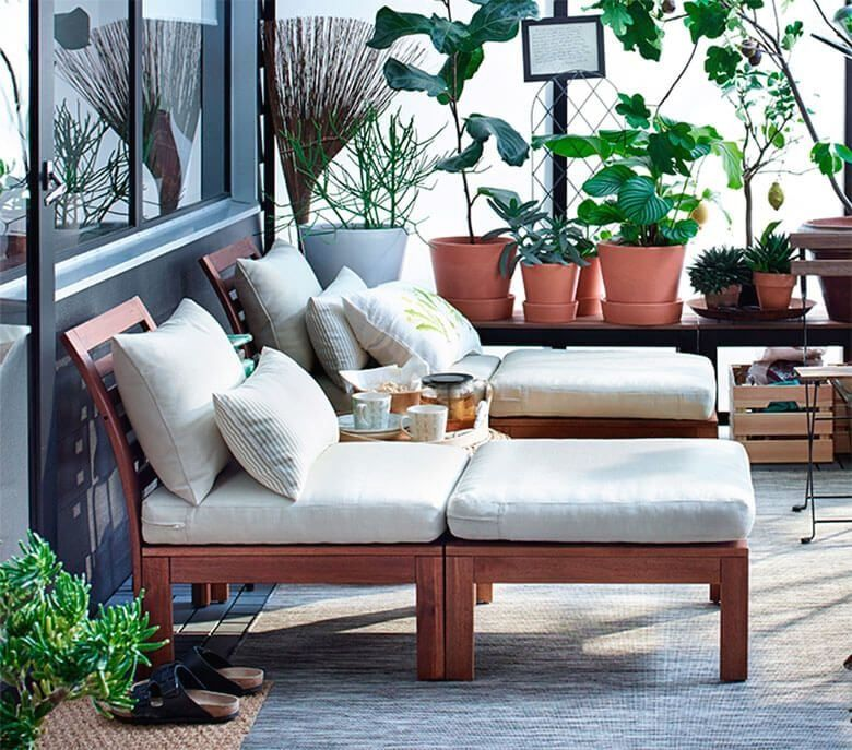 Productos De Jardin Y Terraza Compra Online Ikea 1000 In 2020 Ikea Outdoor Small Balcony Decor Outdoor Living Design