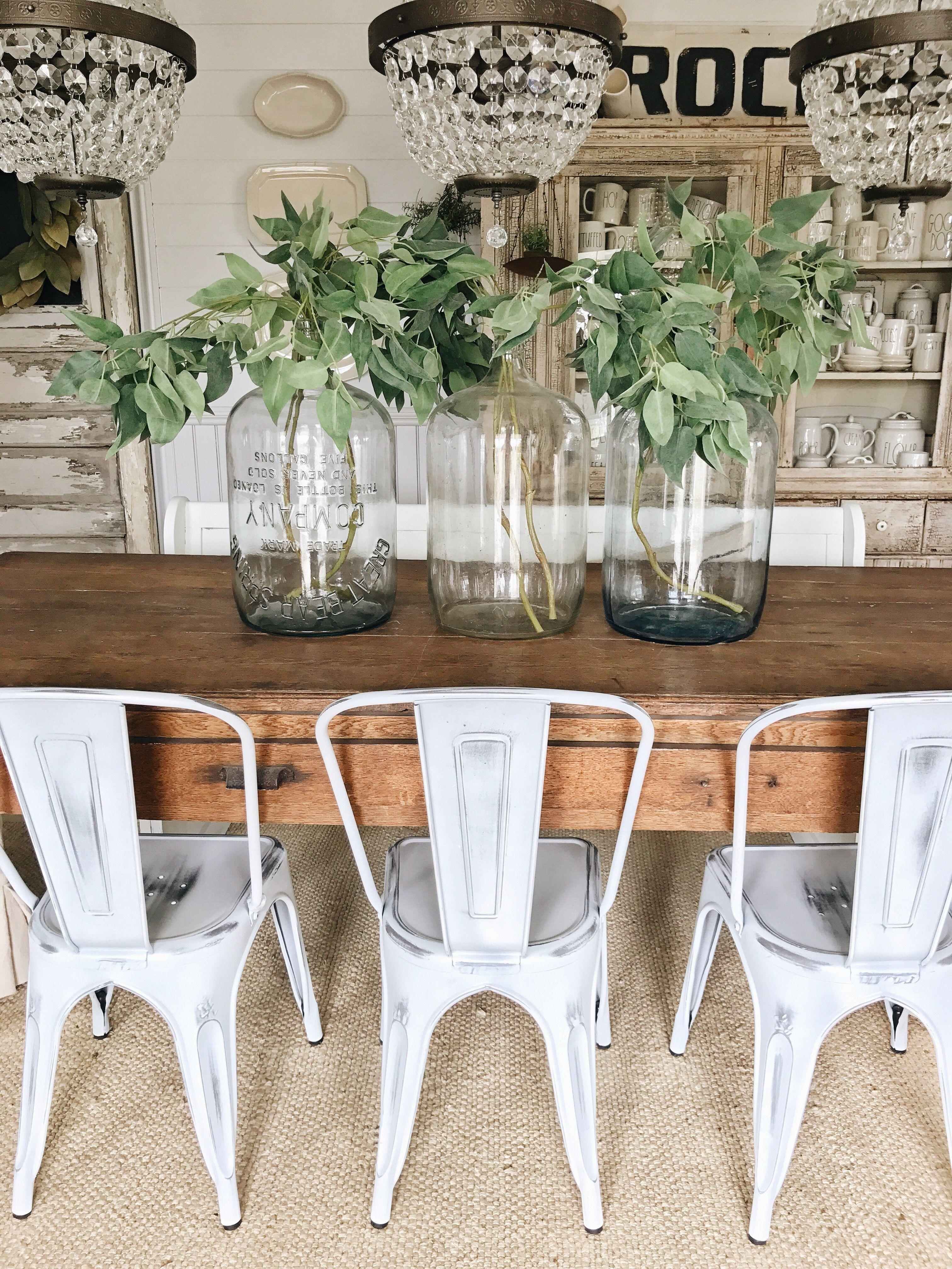 Simple Glass Jug Branch Spring Centerpiece Dining Room Table Centerpieces Jug Decor Glass Jugs Decor