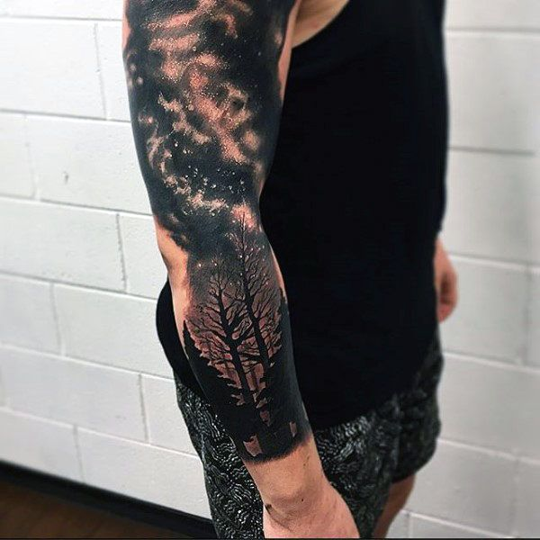 Astronomy Tattoo Sleeve