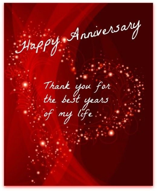 Happy Anniversary Thank You For The Best Years Of My Life