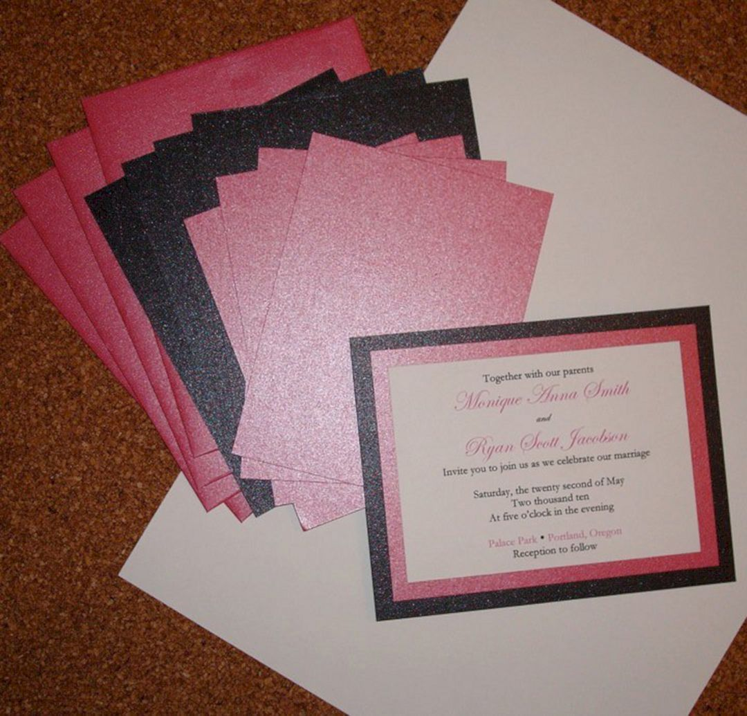 25 Best And Wonderful Wedding Invitations You Can Make By Yourself Homemade Wedding Invitations Diy Wedding Invitation Kits Wedding Invitation Kits