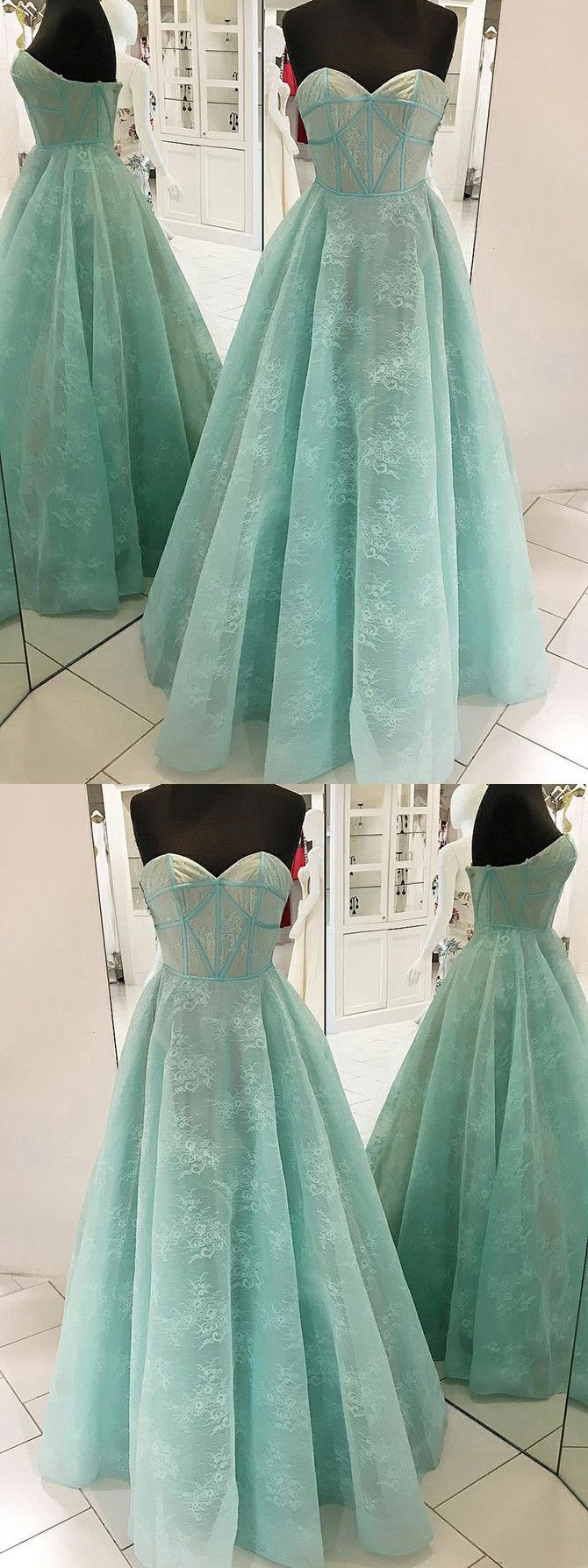 chic aline sweetheart prom dresses with lace long prom dress