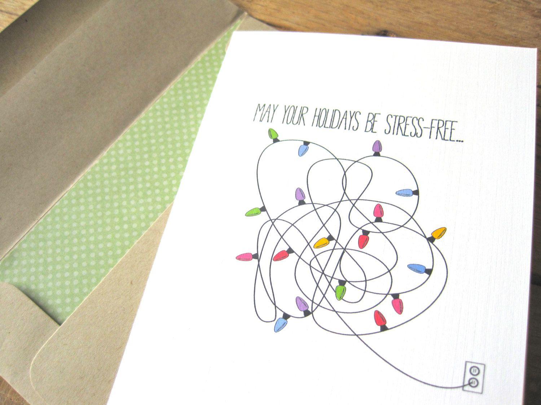 Christmas Light Card. Funny Christmas Card. by
