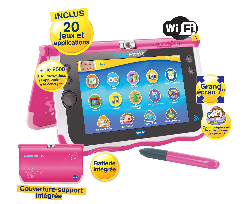 Vtech 166855 Tablette Tactile Storio Max 7 Rose Amazon Fr Jeux Et Jouets Tablette Tactile Tablette Numerique Jeux Electronique