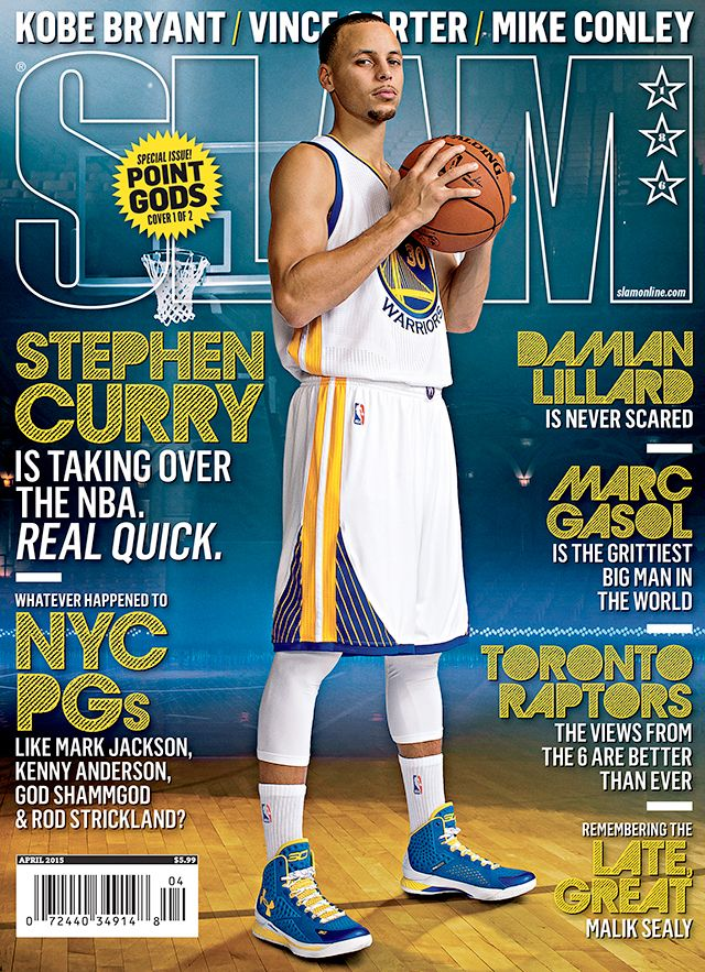 Stephen Curry with the (cover) shot, boy.