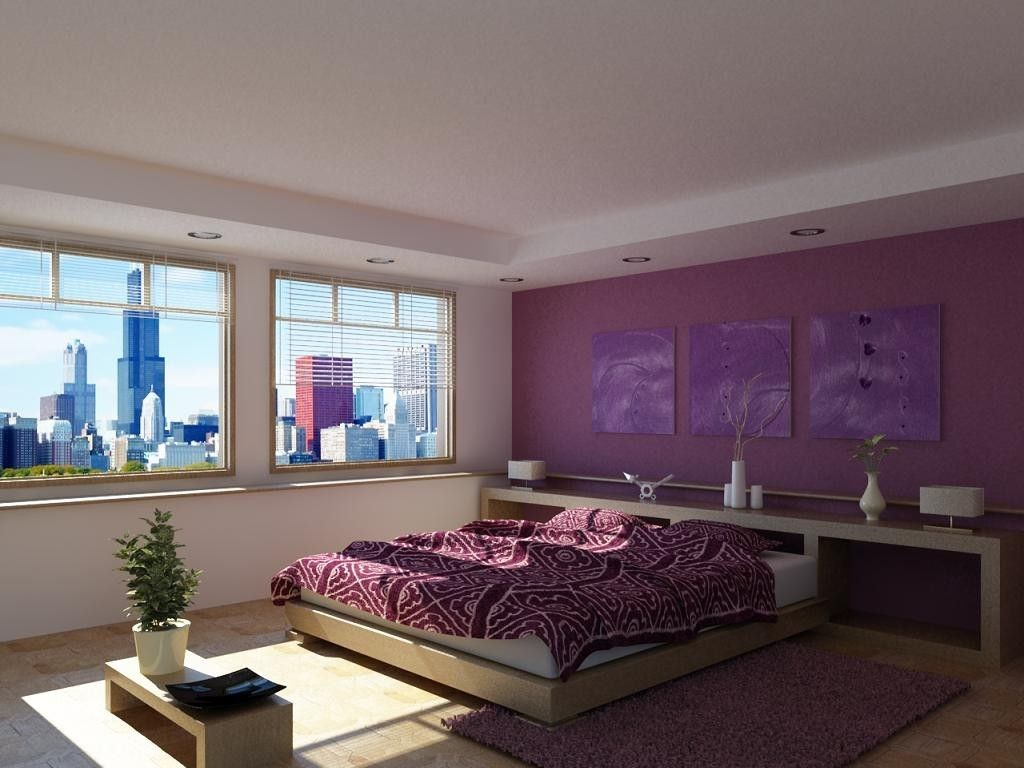 Dipingere Camera Da Letto Lilla : Colorare le pareti della camera da letto. interesting pareti verde