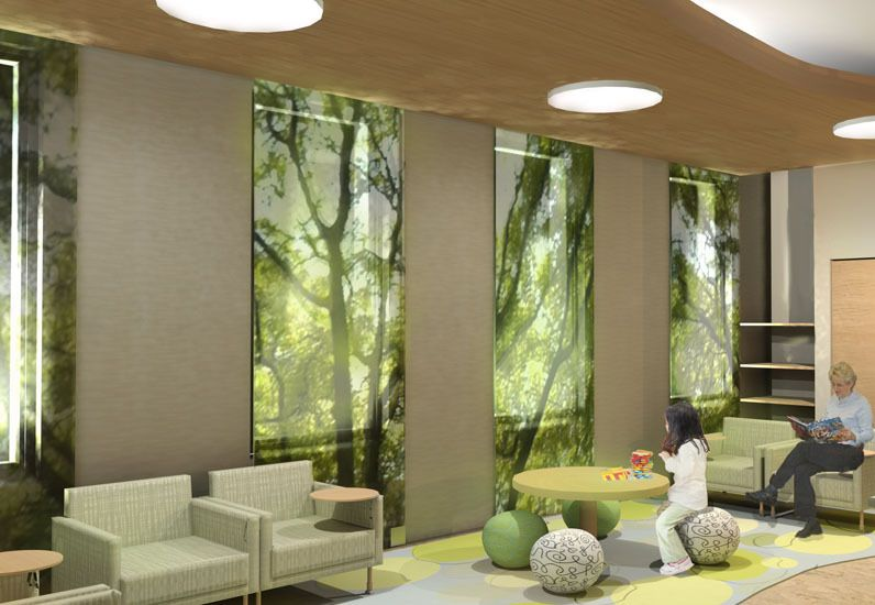 Fabulous Model Of Pediatrician Office Wonderful Natural Modern Design Floral Green Atmosphere