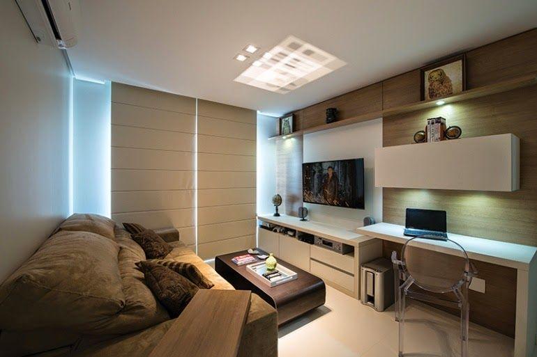 30 Salas Com Home Offices Integrados Veja Modelos Inspiradores E Dicas Decor Salteado Blog De Decoração Arquitetura