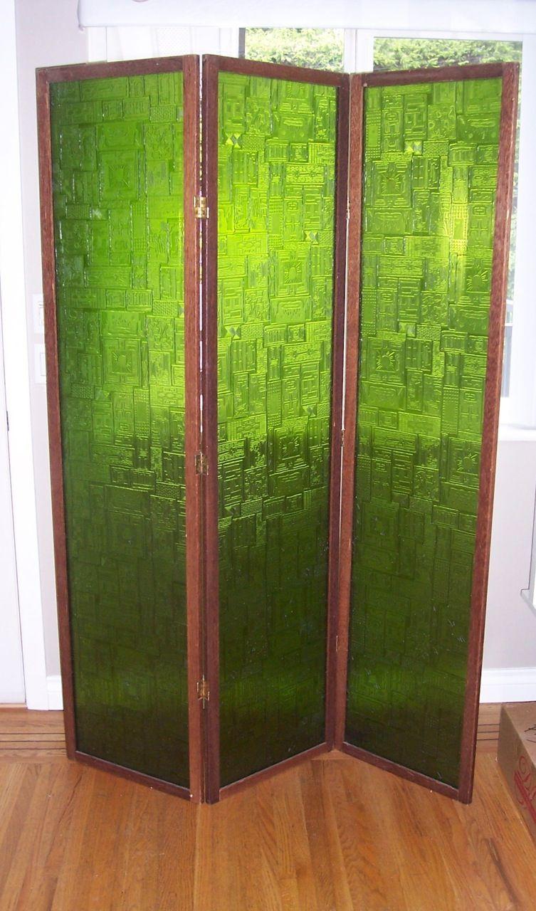 Mcm Plexigl Room Divider In Emerald Green I Need This Gl Sooo Bad