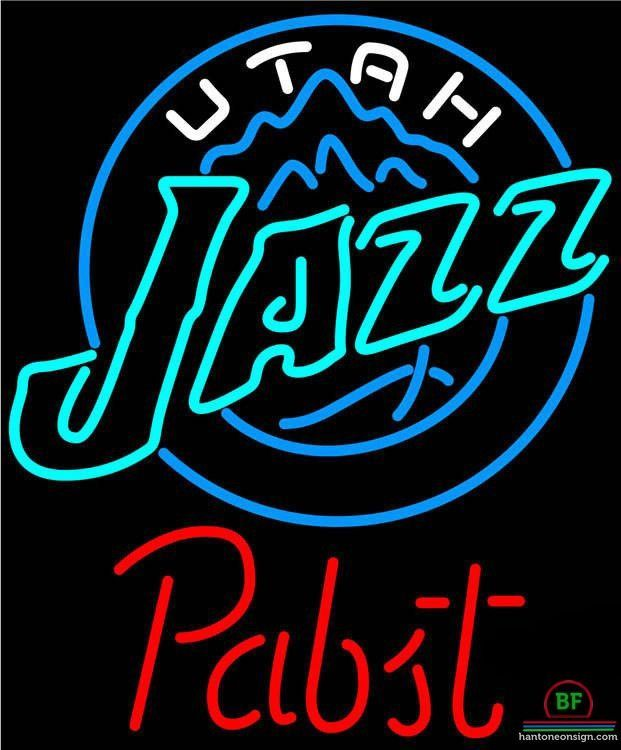 253dfcb233 Pabst Blue Ribbon Utah Jazz Neon Sign NBA Teams Neon Light ...