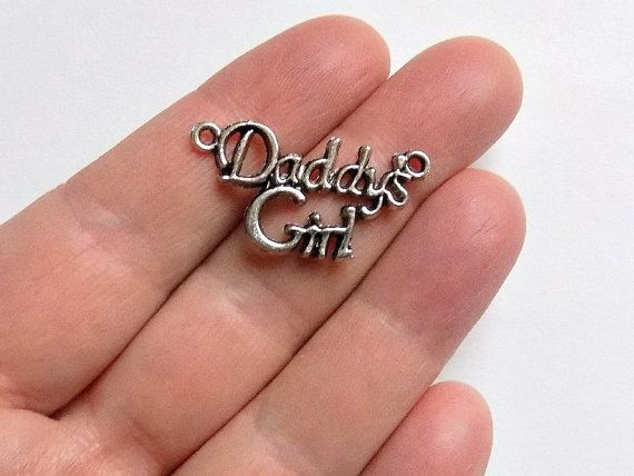 20 Daddy's Girl Connectors  Charms  Pendants  by StashofCharms