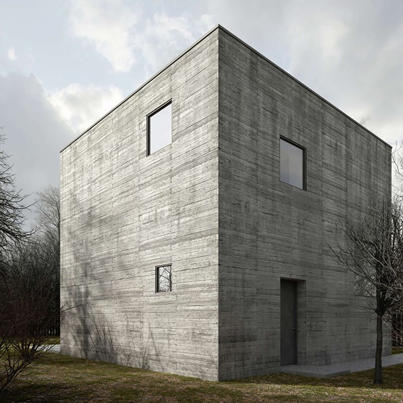 The Concrete Cube House In Poland By Też Architekci Concrete Architecture Minimalist Architecture Architecture