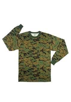 Woodland Digital Camouflage Long Sleeve TShirt ! Buy Now at gorillasurplus.com