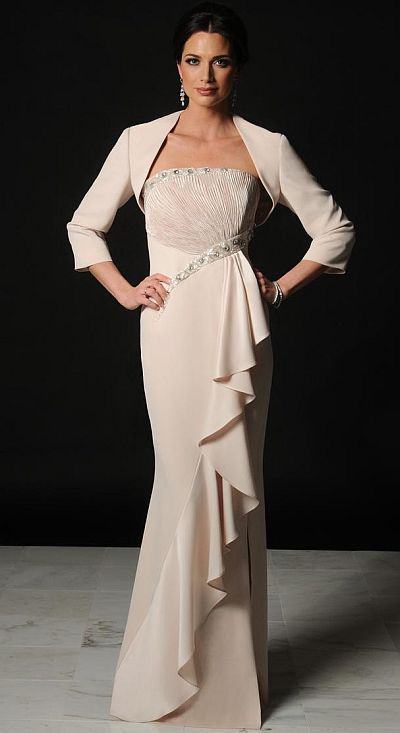Daymor 508 Couture Mother of the Bride Dress with Ruffle image ...