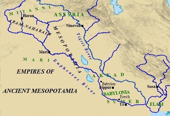 Empire of ancient Mesopotamia | Old maps | Pinterest ...
