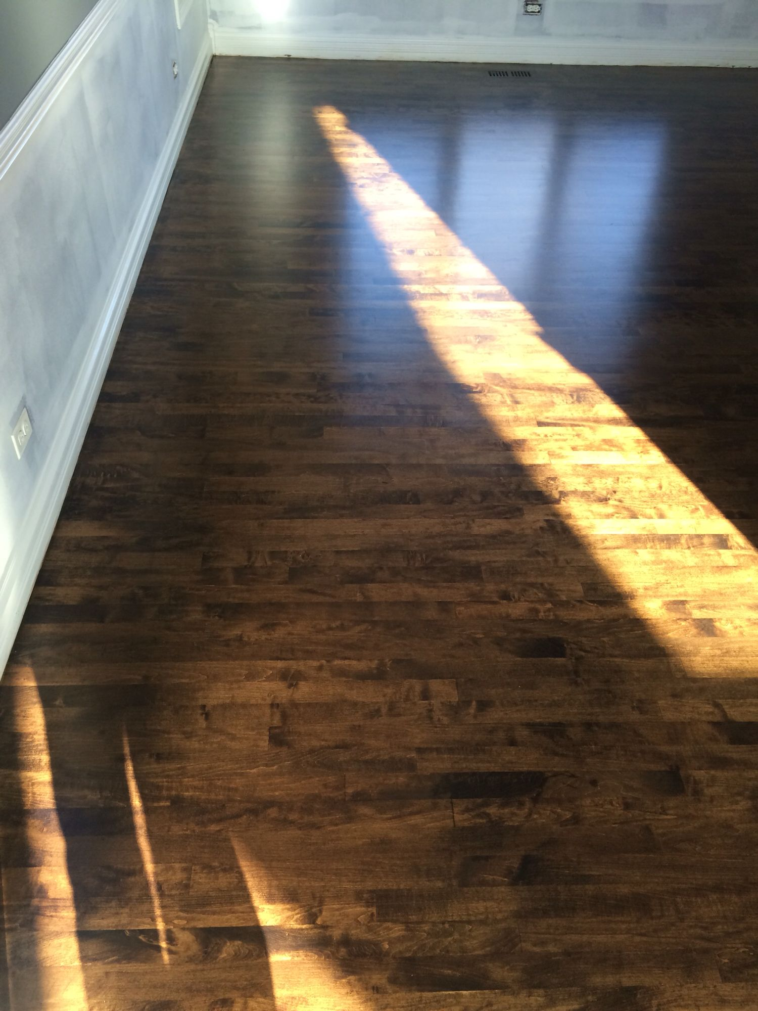 Maple Stained Dark Walnut Maple Hardwood Floors Maple Stain Maple Hardwood