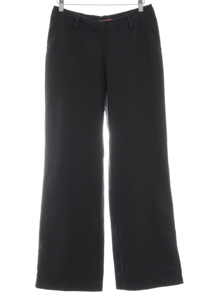 a01a686d03 ADIDAS Stoffhose schwarz schlichter Stil Damen Gr. DE 34 Hose Trousers  #fashion #kleidung