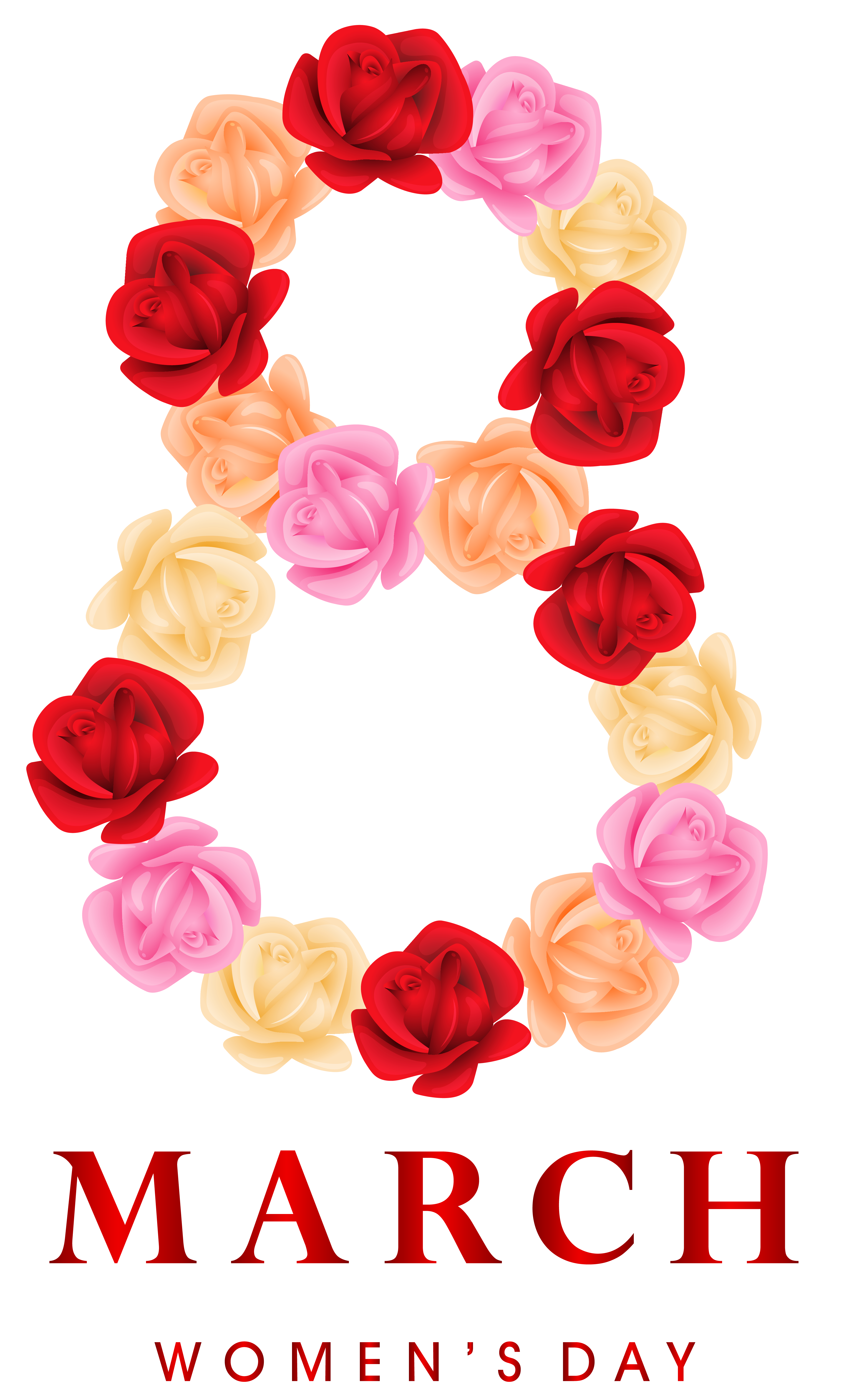 8 March Womens Day Png Clipart Image Women S Day 8 March 8th Of March 8 March Womens Day