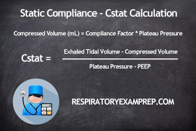 How To Calculate Static Compliance Cstat Respiratory Therapy Compliance Static
