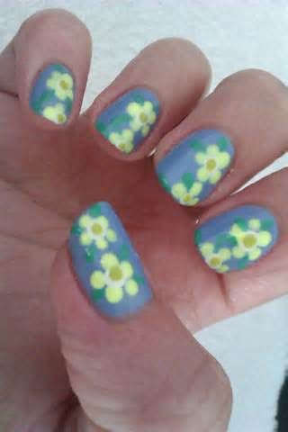 Floral Pattern Easy Nail Painting Ideas Nail Design Ideas Pinterest