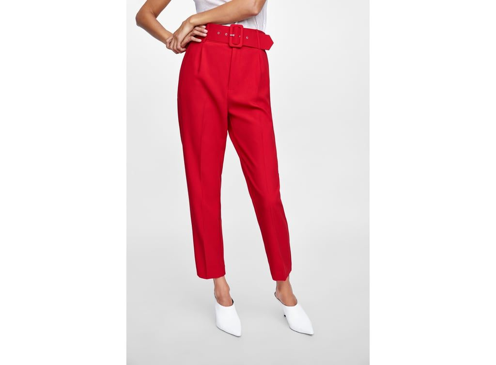 31d91c7f HIGH-WAISTED BELTED PANTS - Item available in more colors | Toyas ...