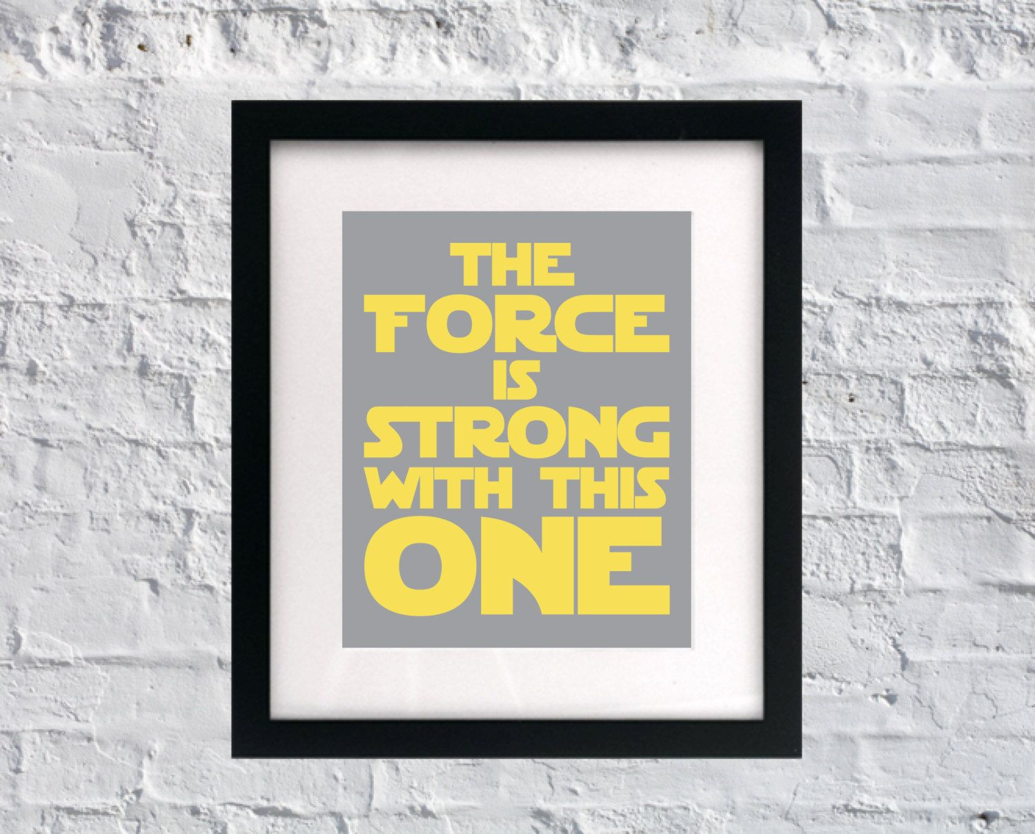 The force is strong with this one baby nursery wall art saying stars ...