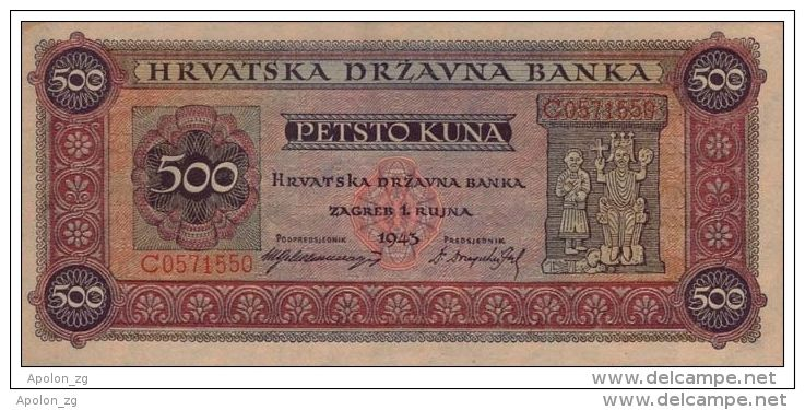 Http Coins Delcampe Net Page Item Id 227898096 Var Croatia Kroatie 500 Kuna 191943 Unc Wwii Ndh Ustasha Uniface Military Tags The Originals Are You Happy