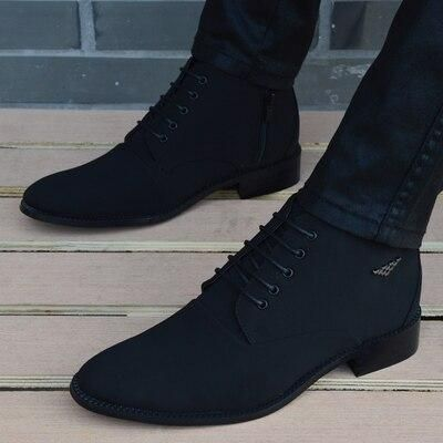 Canvas Ankle Boots For Men is part of Mens boots fashion, Mens dress boots, Ankle boots dress, Ankle boots men, Fashion boots, Mens black dress shoes - 2 ) Estimated delivery time 27undefined days