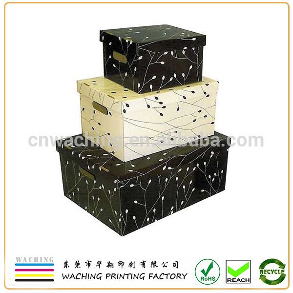 Exceptionnel Custom Fancy Decorative Paper Storage Box With Lids Wholesale .