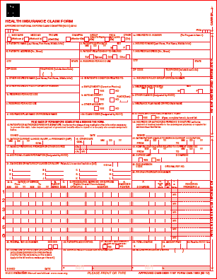 Cms Claim Form  Medical Billing And Followup