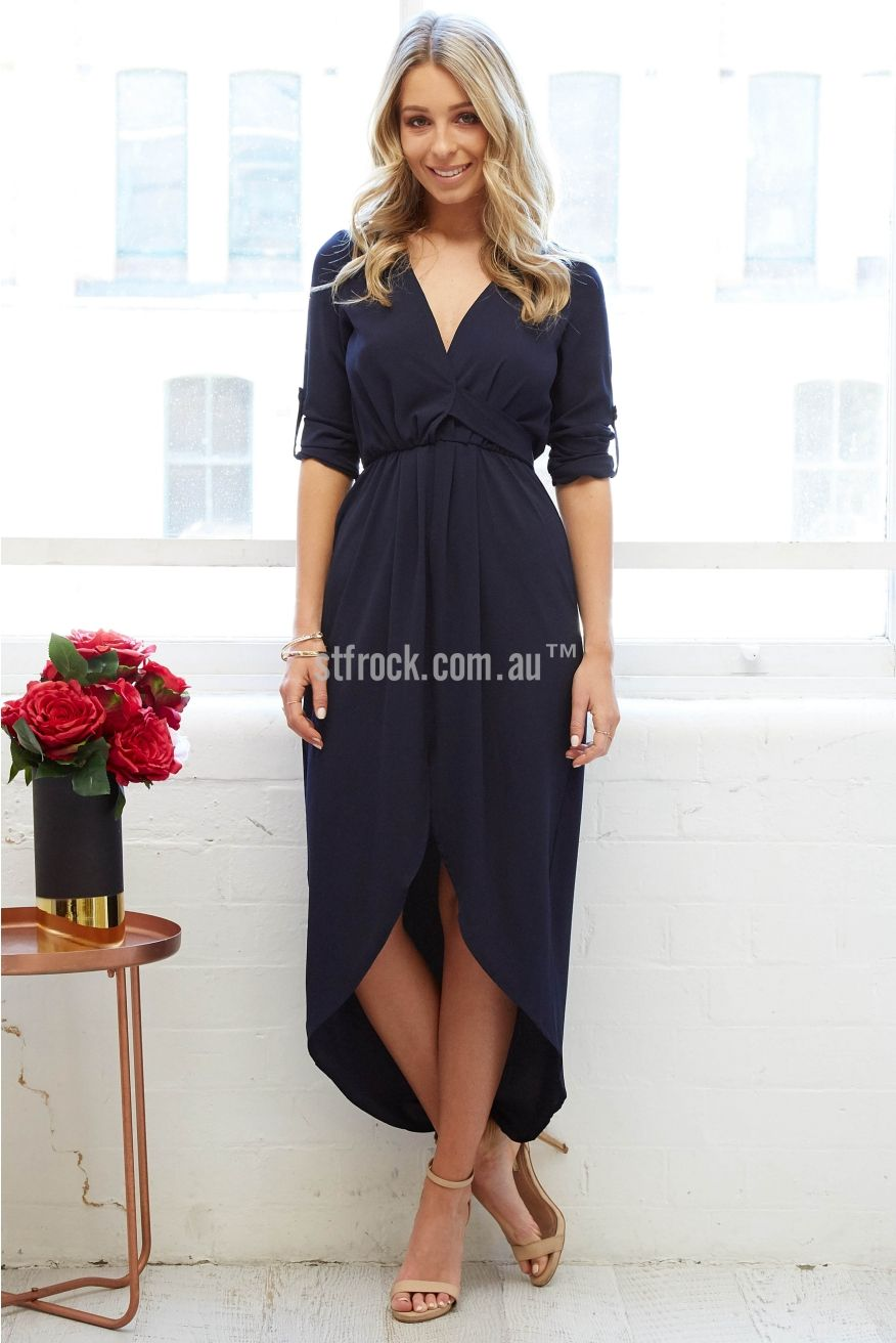 Marcella Dress in Navy | St. Frock | shoes, clothing and accessories ...