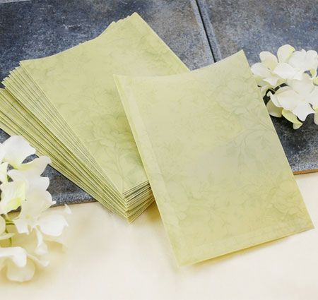 Green Floral DIY Invitation Sleeve DIY Invitation Kits Atelier