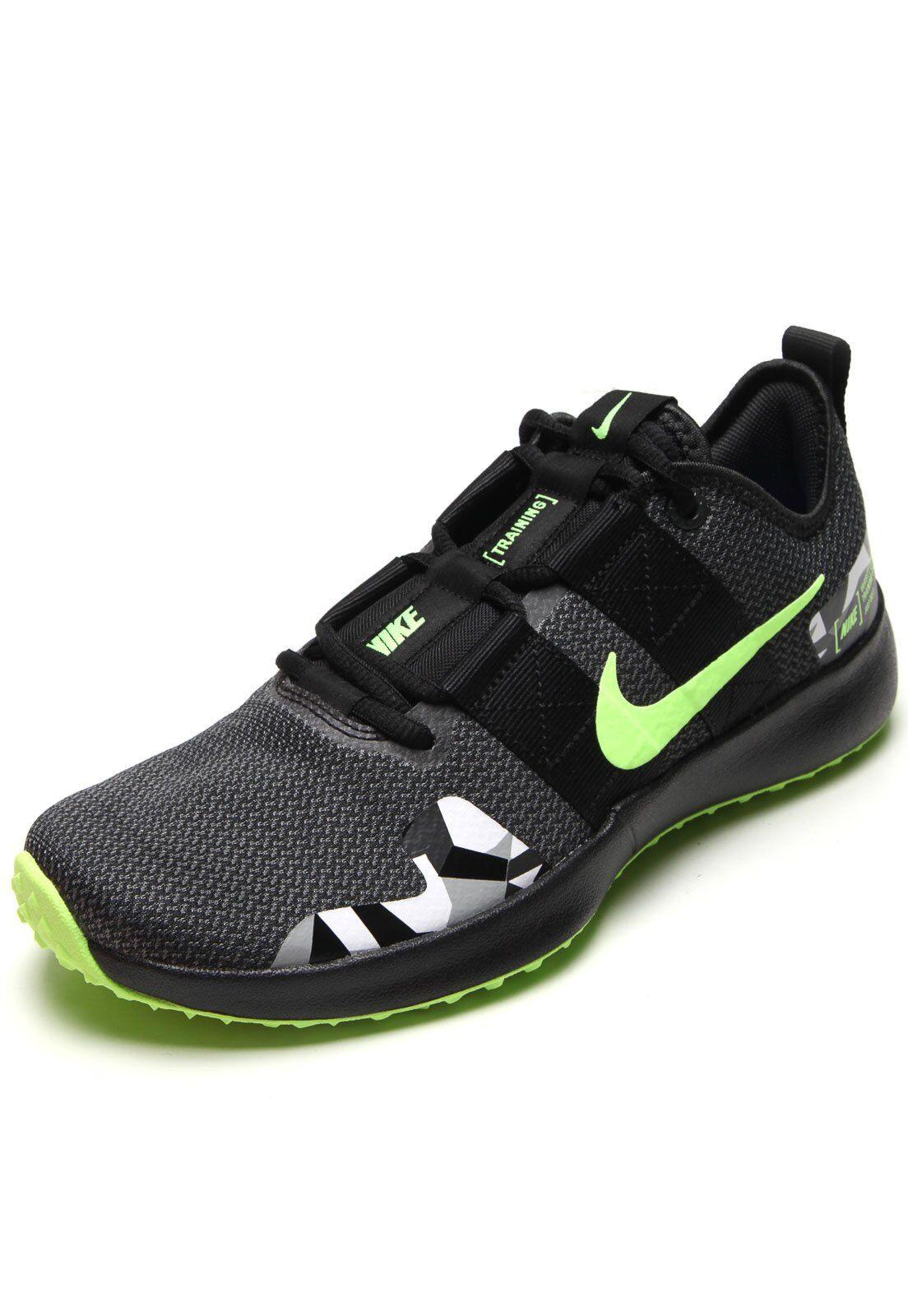 Tênis Nike Varsity Compete Tr 2 PretoVerde em 2020 | Tenis