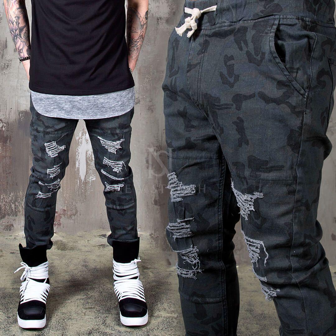 213881980 Artistic pattern layered distressed black jeans - 387 in 2019 | mari | Distressed  black jeans, Black jeans, Black jeans men