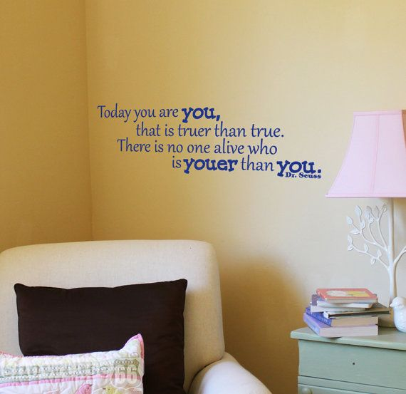 You are YOU Vinyl Wall Art FREE Shipping Fun Dr by showcase66 ...