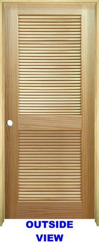 Mastercraft Reg 36 X 80 Ready To Finish Pine Veneered Stile And Rail Full Louvered Solid Core Prehung Interior Doors Doors Interior Louvered Interior Doors