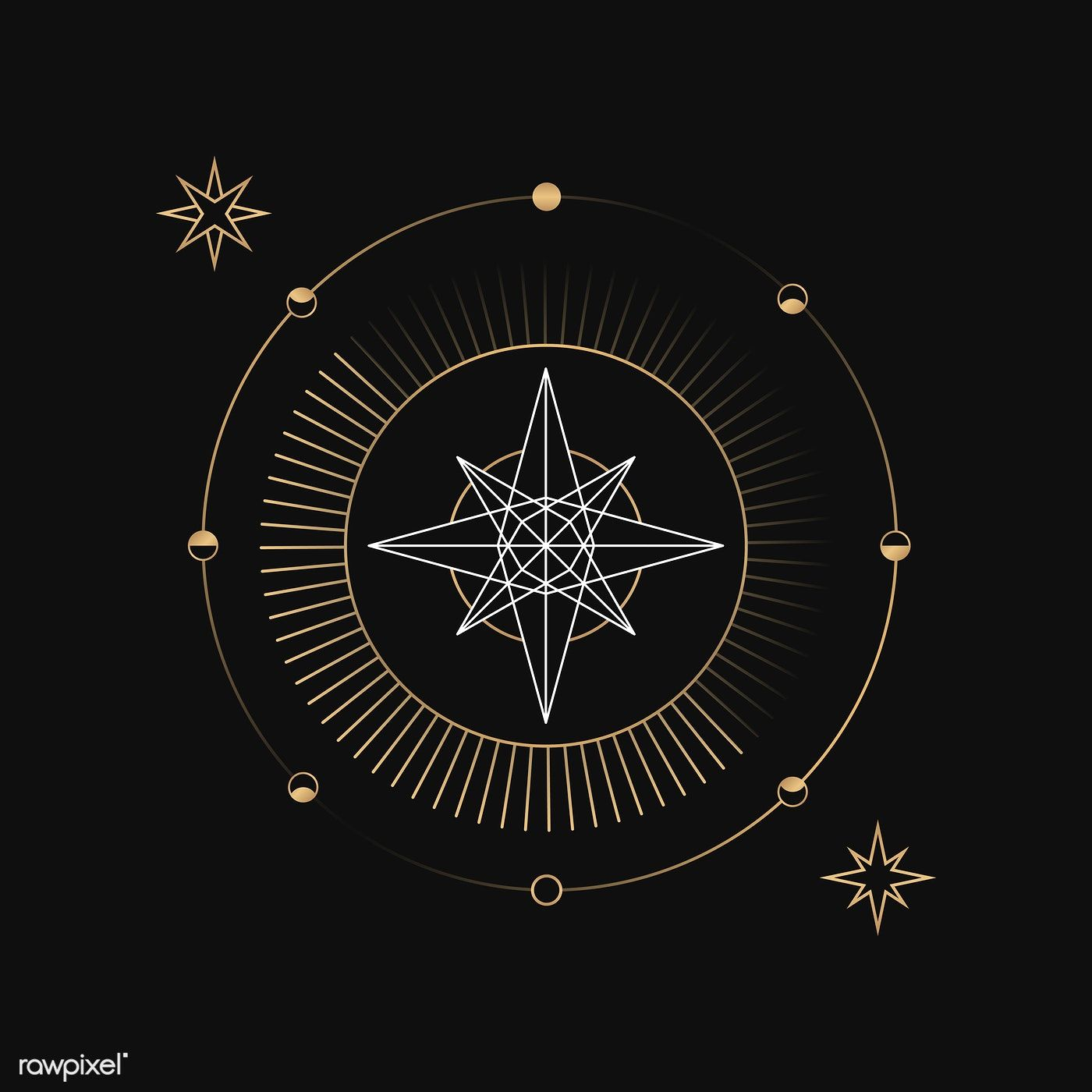 Download premium vector of Geometric star mystic symbol
