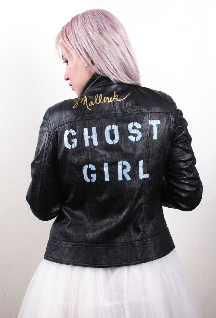 Suzanne Mallouk  'GHOST GIRL' Genuine Leather Jacket - IMMEDIATE DELIVERY SIZE S