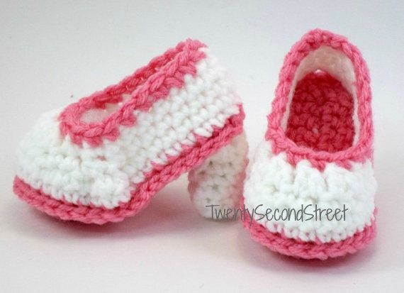 Custom Design Handmade Crochet Black Mary Jane Baby Booties w// Pink Lace