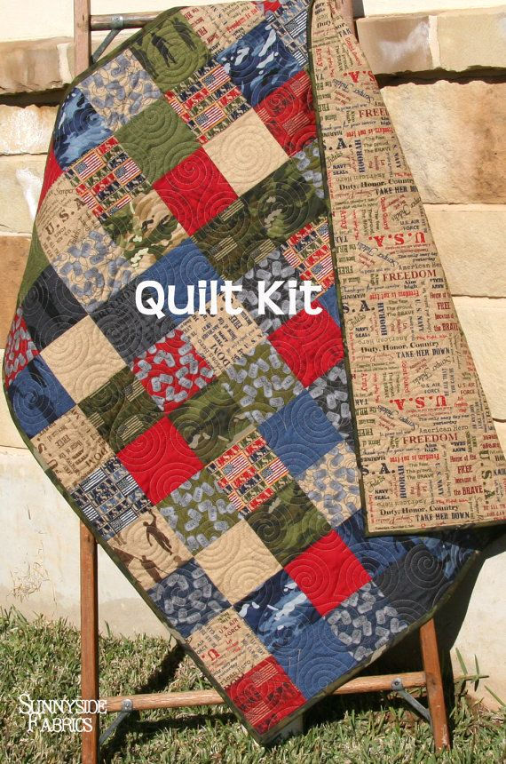 Last Two Quilt Kit Military Usa Patriotic Army Navy Coast