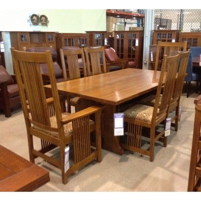 Stickley Mission Keyhole Trestle Table On Sale At Toms Price