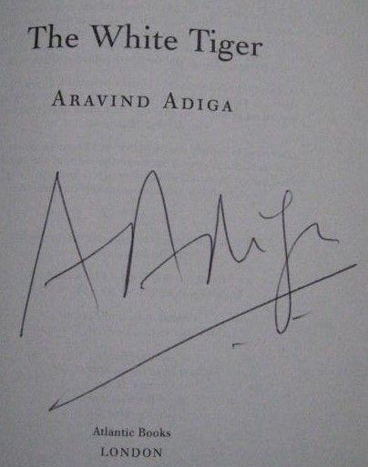 White Tiger Aravind Adiga Book