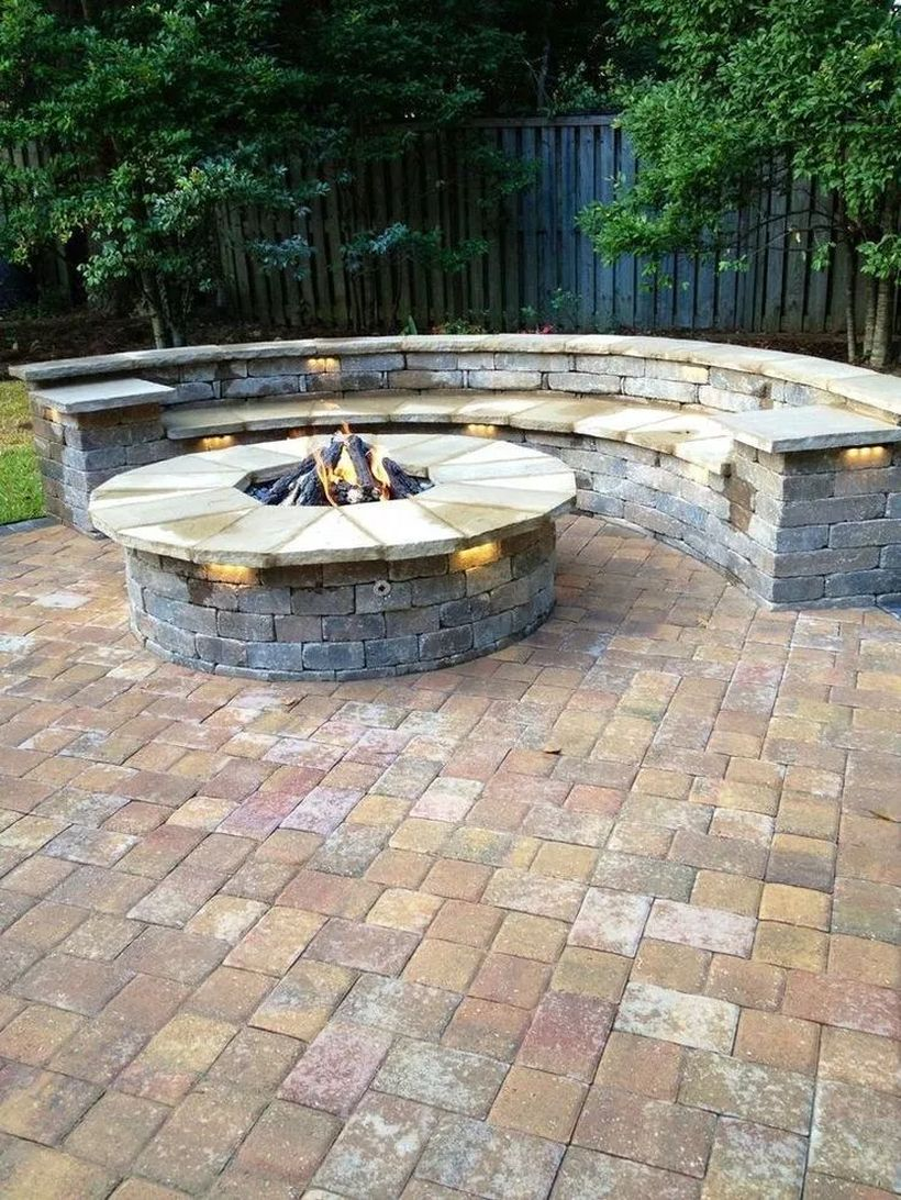Photo of 33 Inspiring Outdoor Fire Pit Design Ideas  #firepitdesign #firepitideas #outdoorfirepit Back…