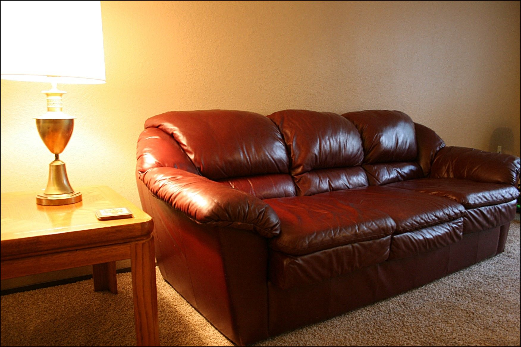Second Hand Brown Leather Sofa