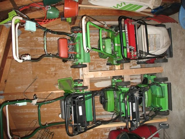 Mower Storage Ideas? Maybe not for 6, but could probably do something like  this - Mower Storage Ideas? Maybe Not For 6, But Could Probably Do